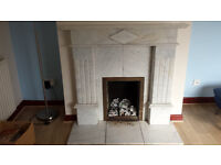 Light Grey Marble Fire place