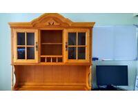 Oak Display Unit/Cabinet