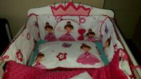 Cot bed set for little princess