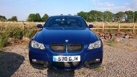 Stunning BMW 335D M Sport switchable auto Saloon in le Mans Blue Black dakota leather.
