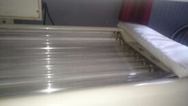 Solostar double canopy sunbed, 20 tubes,fully working,