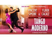 2x Tango Moderno tickets. Strictlys Vincent & Flavias Tango show. AMAZING SEATS!