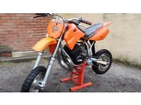 for sale kids ktm 50cc.. sx pro senior . was taken as a part ex ..SO PLEASE READ AD..