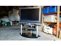 "Sony Bravia 30"" TV with stand and table and also DVD player"