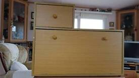 Telephone Table. With drawer and shoe cupboard