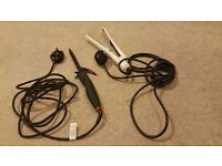 Nicky Clarke curling tongs (used once) & Vidal Sassoon straighteners (used but great)