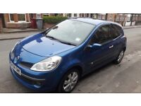 Blue 2008 Renault Clio, Great Condition! Full years MOT!
