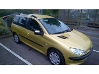 Reliable Peugeot 2 litre diesel with useful cabin space for a mini estate. 10 Months MOT