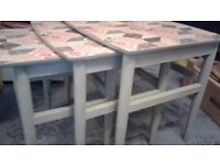 Shabby chic, nest of tables, painted in annie sloan paint.