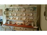 Shabby chic antique Dresser. Table and chairs