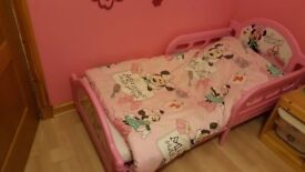 A Pink Toddler Bed