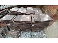Sandtoft brown plain roof tiles. Approx 250.