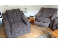 3 Piece Living Room Suite, Including 3-seater sofa, matching Electric Recliner and Arm Chair