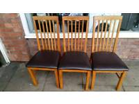 Dinning chairs set of three