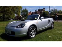 **12 MONTHS MOT** 2001 TOYOTA MR2 ROADSTER VVTI 2 DOOR CONVERTIBLE**VERY LOW MILEAGE+GOOD HISTORY**