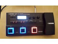 Boss GT-1 Guitar Effects Processor - bought new and hardly used so in excellent condition.