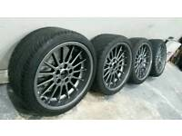 """BMW 18"""" Alloy Wheels Style 32 / Tyres * Genuine & Staggered 8"""" & 9 """" * Deep Dish"""