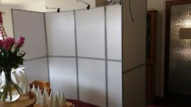 10 panels folding display boards white