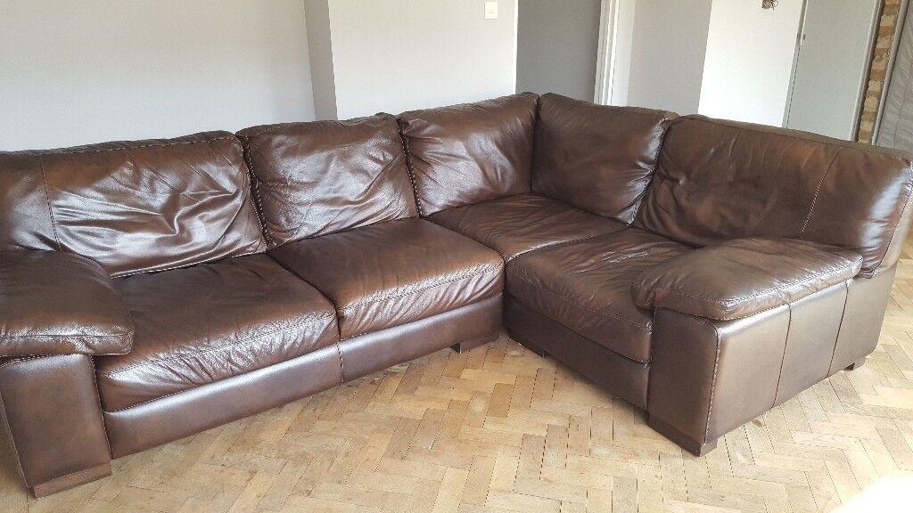 Corner Leather Sofa In Tuffley Gloucestershire Gumtree