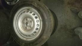 Vw transporter t5 steel wheels and tyres