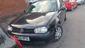 2004 AUTOMATIC BLACK VOLKSWAGEN GOLF....GREAT CAR...