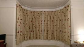 High quality lined and interlined pinch pleat curtains