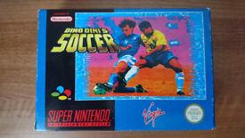 Snes Super Nintendo Dino Dini's Soccer UK Pal Game - Collectors Item - Mint Condition