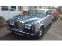 1980 Rolls Royce Shadow 2 silver and blue with full year MOT