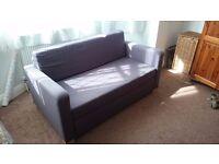 Sofa bed: dark grey, good condition, SOLSTA ikea