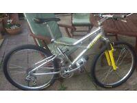 Custom Built Full Suspension Lightweight Mountain Bike & Volare Mag Elite Trainer