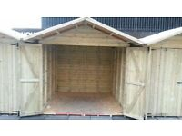 Heavy duty sheds. Ex Christmas market stalls. 8x10. Quality timber.