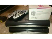 Sky + HD box plus routers