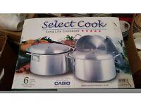 Curry/Cassarols pans with lids