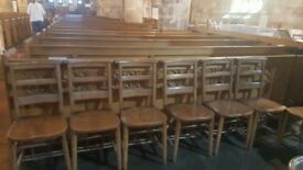 Antique Church Chairs from St Andrews Scotlan