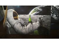 Spaceman canvas wall art 20x30 inches.large