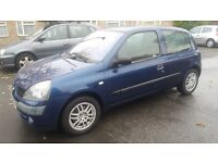 1.2 renault clio 2004 year79904mile history mot 07/11/2017 history 3 month warranty 12month aa cover