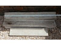 Bargain concrete window sills, 1800mm x 5, 840mm x 1. £15 each or job lot £50.