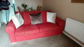 3 seater sofa bed & 2 seater sofa & storage stool