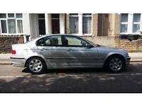 Silver BMW 320i SE Y reg 2001 Manual, grey fabric seats