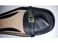 Michael Kors Black Flat Ballet Shoes, Leather, Size 5