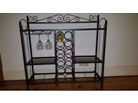 Metal Celtic Baker's Rack with Wine Storage