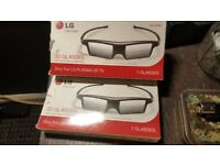 3d glasses x2 in box and new ag-5360