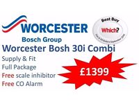 New Worcester Bosh 30i Combi Boiler Fully Installed £1399(Full Installation included)