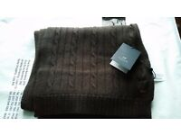 Dark brown men scarf from Sacoor brand. Completely new!
