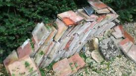 Large reclaimed quarry tiles