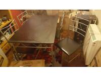 Black and chrome dinning table