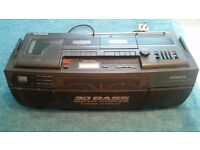 cd player tape deck tuner boombox