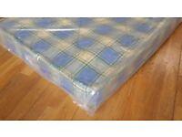 NEW, In bags. Small single size spring interior mattress. 80cm x 178cm matress