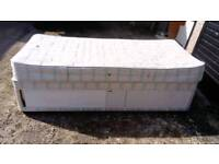 3'SINGLE DIVAN BED WITH STORAGE AND MATTRESS FREE LOCAL DELIVERY