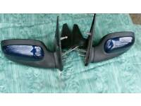 Citroën saxo Wing mirrors Pair of in blue